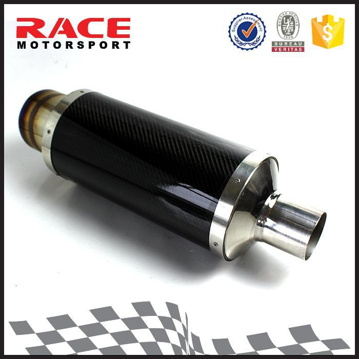 TUV Certification Silent Round Straight Carbon Muffler