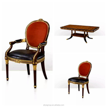luxury wood gold royal dining table tables and chairs <strong>furniture</strong>