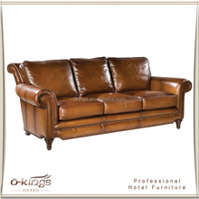 High end grain leather sofa set for sale