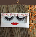 Professional manufactory 3D faux mink false eyelashes with customized logo box