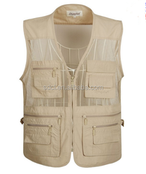 Wholesale multi pocket vest men fishing vest