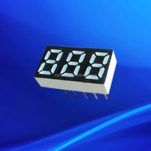 kem-2531-bw white 0.25 inch 3 numbers triple digit mini 7 segment led display 0.25""