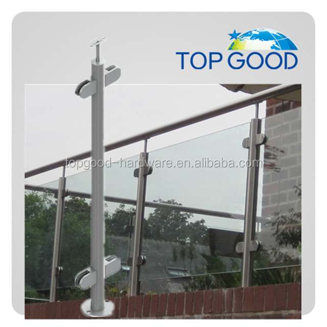 Wholesale stainless steel pipe handrail glass railing designs systems for outdoor steps balcony use