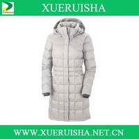 light color down coat for woman in clod weather