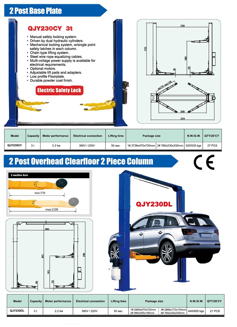 Automotive Lift Safety : Two post car lift for sale buy used