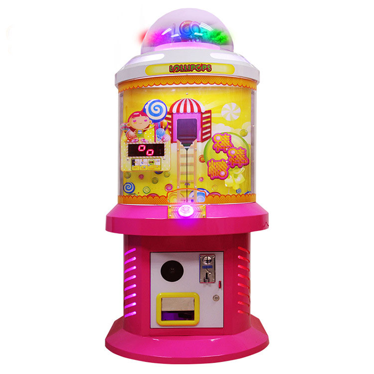 Lollipops candy coin operated games sweet candy vending machine for children