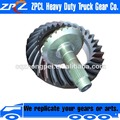 Low Noise & Durable Gear Lapping Mid-Axle Spiral Bevel Gears with Ratio of 26/31