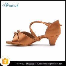 Girl's Children Ballroom Latin Tango Shoes Women kids Satin Gliter Dance shoes Model 609