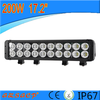 High lumens auto parts dual row 200w led light bars with 20pcs*10w led chips