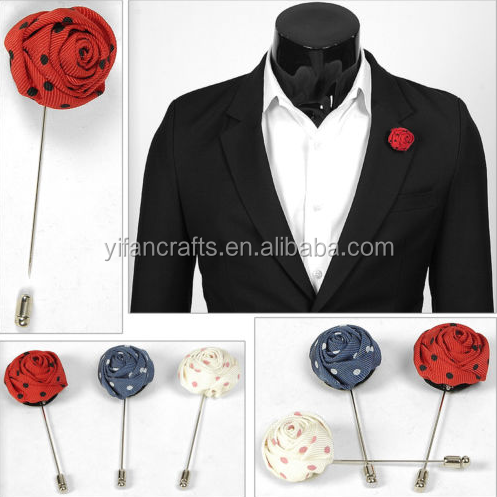 Rose Flower Boutonniere Corsage Wedding Prom Party Quinceanera Event Lapel Pin