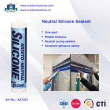 Aristo One Part Clear or Coloured Neutral Silicon Sealant, silicone sealant for stain steel