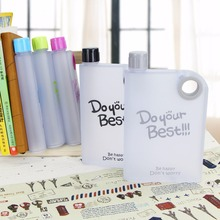 Factory direct selling Creative Notebook paper A5 flat custom logo scrubs water bottle