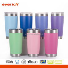 20oz customized color stainless steel vacuum tube cup powder coating