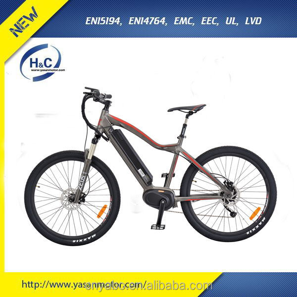 700C MTB/Road Electrical Bike 250w 8FUN Mid Drive motor mountain e-bike with Suspension fork