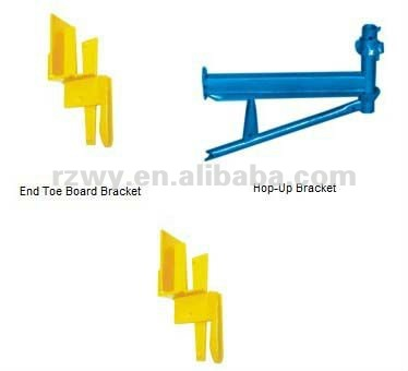 Cuplock system and ringlock scaffolding beam support bracket outrigger of facade scaffold