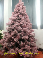 Snow Flocked Pink Christmas Tree PVC Environmental Christmas Tree 2015 New Design Xmas Tree
