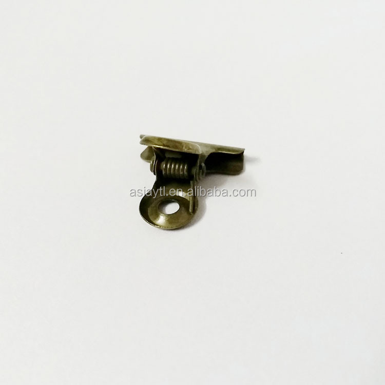hot selling 22mm bronze small strong metal clip with one flat side