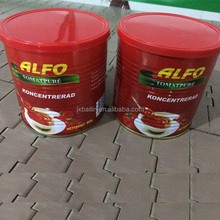 Tinned Tomato Paste 800g, 2200g with Red Plastic Lid Cover