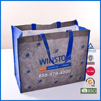 2015 promotional RPET tote bag/customized RPET bag