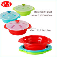 Hot selling high quality easy to clean cookware steamer pot healthy safe non-stick silicone food optima steamer