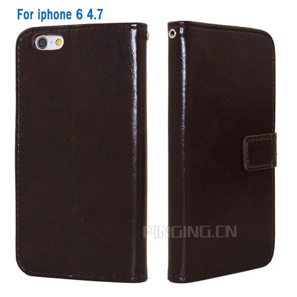 Hot Sale New Product PU leather Mobile Phone Flip Cover for iphone 6 With Photo Frame Design