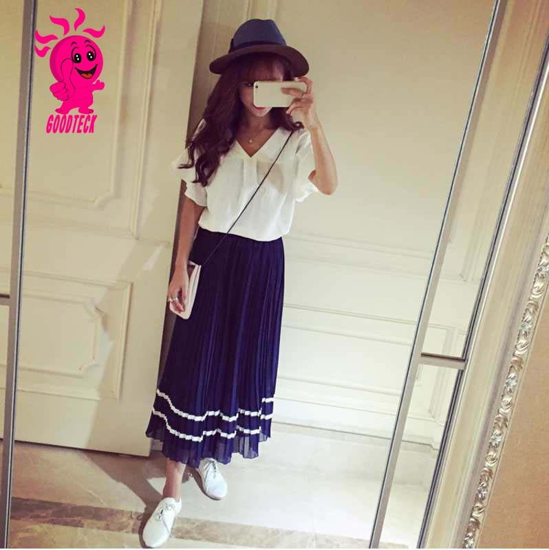 summer school style fashion adult long skirt