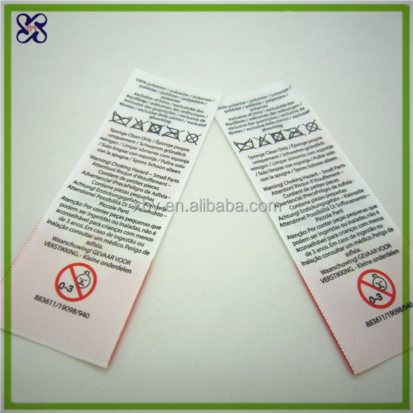 Competitive price care label material for clothing