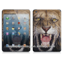 Angry lion powerful feel adhesive color skin sticker for ipad mini vinyl sticker