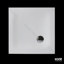 600x600 shower tray White Marble Acrylic Solid Surface Shower Tray
