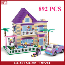 Hot sell luxury building blocks toys 892 pieces building bricks for girls
