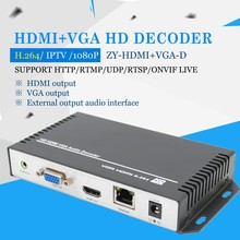 Support one key to restore the factory configuration H264 Ip Decoder