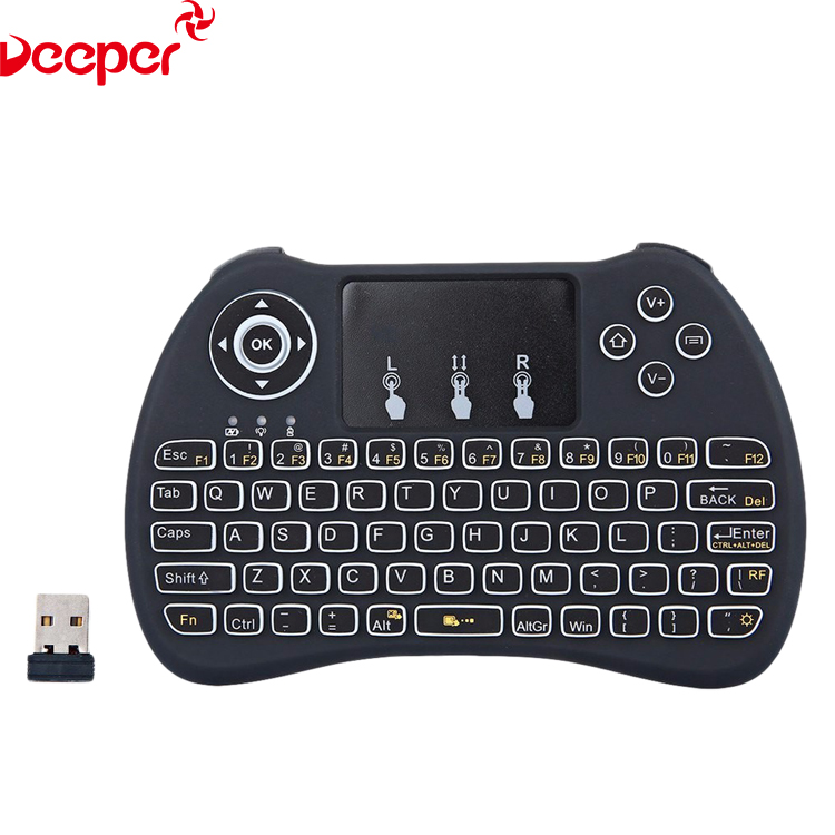 2.4G Air Mouse H9 White Backlit Mini Wireless Keyboard For Android Tv Box