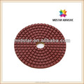 flexible wet polishing pad for granite and marble