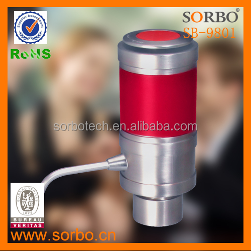 SORBO Speediness Wine Aerator Electric Wine Decanter Stainless Steel Wine Aerator Pourer