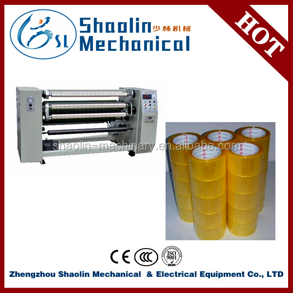 High efficient bopp adhesive tapes rolls slitting rewinding machine with lowest price