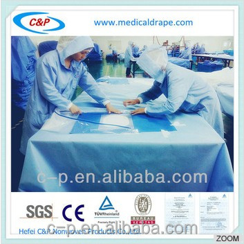 Disposable Incise Drape Sheet With EO Sterile For Craniotomy Surgery