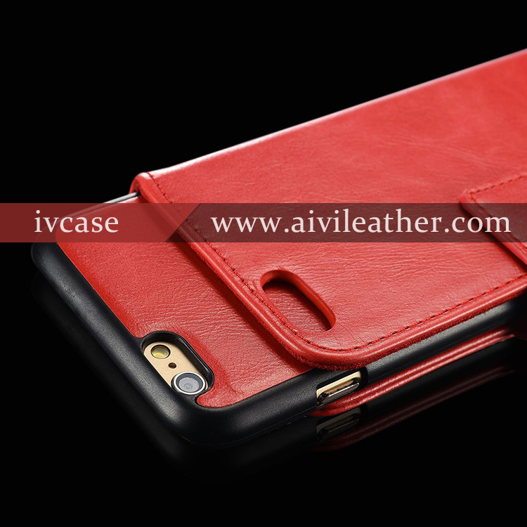 Innovative Cool Designer Leather Wallet Book Case For Iphone 6s With Snap-On Leather Back Cover Case For Iphone 6s Case