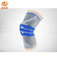 hot sale new style gel cushioned jacquard weave steel spring sport knee support