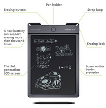 Rewritable and erasable 9 inch LCD Digital Writing Boards with POM stylus