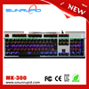 Corlorful LED Backlit Adjust 104 Key Blue Switches Waterproof Gaming Mechanical Keyboard