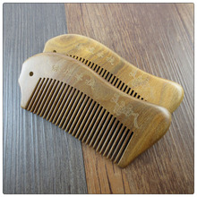 decorative hair combs Peach material Nature color hair wood comb,difference wide teeth wooden beard