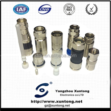 rg6 coaxial cable F type locking terminais e conectores