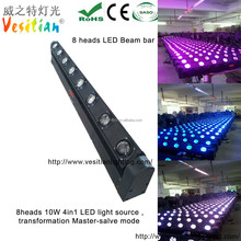 hot new products for 2015 lighting equipment for home discos 8*10w RGBW 4in1 modern wall lighting led light bar