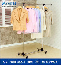 Flexible single-pole metal extended clothes hangers