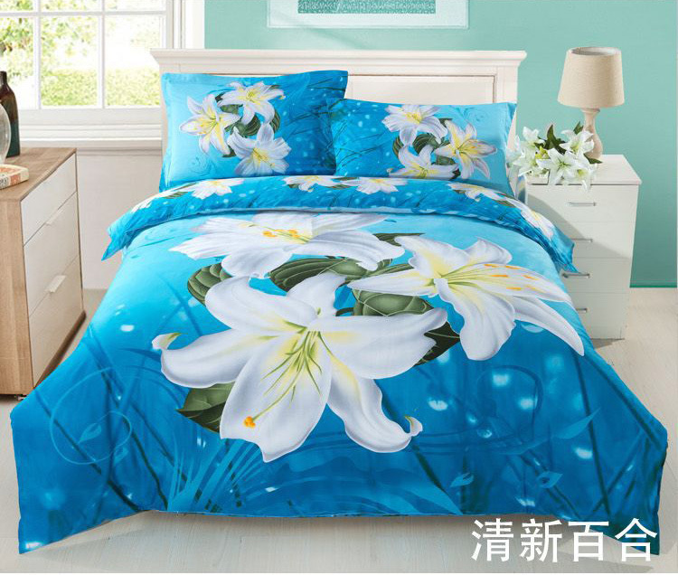 High quality reactive printed cotton bedding set fabric ,home textile
