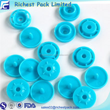 Custom size four parts snap buttons plastic children clothing buttons