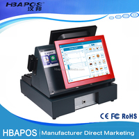 HBA-ML200 POS factory good quality touch pos computer /pos system /cash register