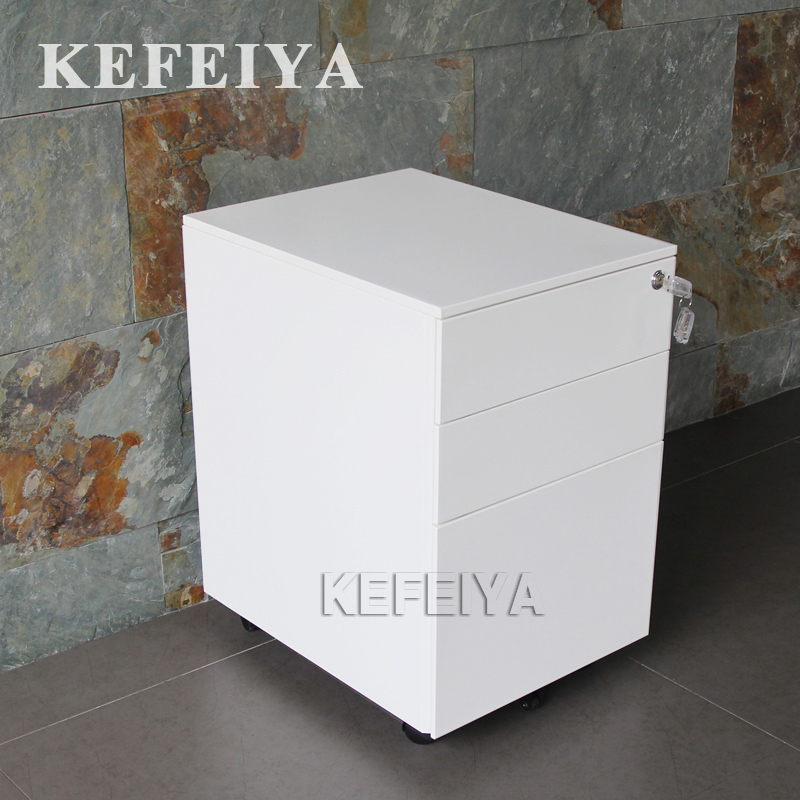 Luoyang Kefeiya Office Mobile File Rack 3 Drawer Steel Filing Cabinet Mobile Pedestal Black File Cabinet