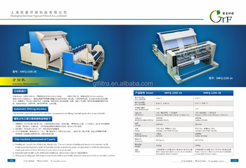 filter cloth cloth dividing and cutting machine