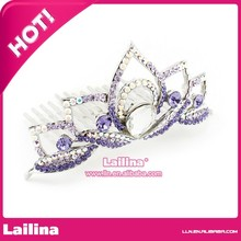 Yiwu Rinhoo Jewelry High quality vintage butterfly Rhinestone Bridal wedding headdress tiara 4 crown